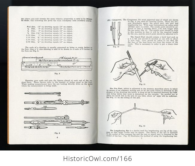 Vintage Booklet Use and Care of Drawing Instruments with Instructive Exercises by Eugene Dietzgen C1947 - #A6wECF86eWI-3