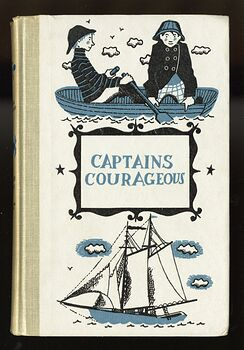 Vintage Captains Courageous Illustrated Book by Rudyard Kipling Junior Deluxe Editions C1957 #9m0K4AsQDe4