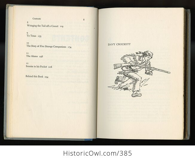 Vintage Davy Crockett Illustrated Book by Constance Rourke Junior Deluxe Editions C1962 - #oCQs5ciamlM-6