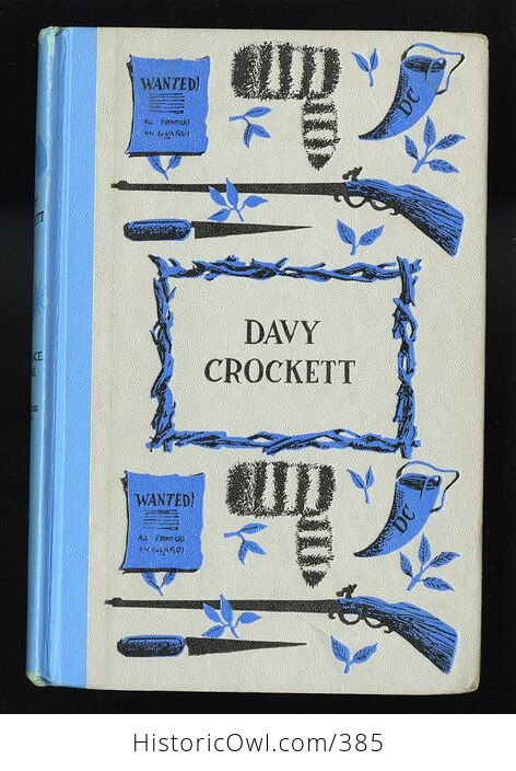 Vintage Davy Crockett Illustrated Book by Constance Rourke Junior Deluxe Editions C1962 - #oCQs5ciamlM-1