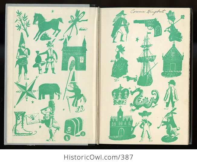 Vintage Grimms Fairy Tales Illustrated Book by Jakob and Wilhelm Grimm Junior Deluxe Editions C1954 - #ZOxnfKMc6EI-3