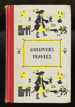 Vintage Gullivers Travels Illustrated Book by Jonathan Swift Junior Deluxe Editions C1954 #jQZp5x6L8ig