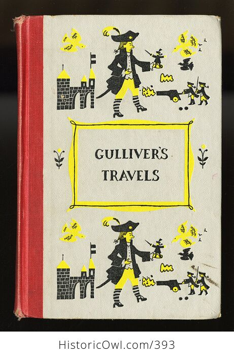 Vintage Gullivers Travels Illustrated Book by Jonathan Swift Junior Deluxe Editions C1954 - #jQZp5x6L8ig-1
