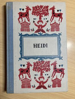Vintage Heidi Illustrated Book by Johanna Spyri Junior Deluxe Editions C1954 #3nGxC3n3n90