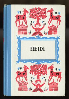 Vintage Heidi Illustrated Book by Johanna Spyri Junior Deluxe Editions C1954 #a7xTMAn3rW4