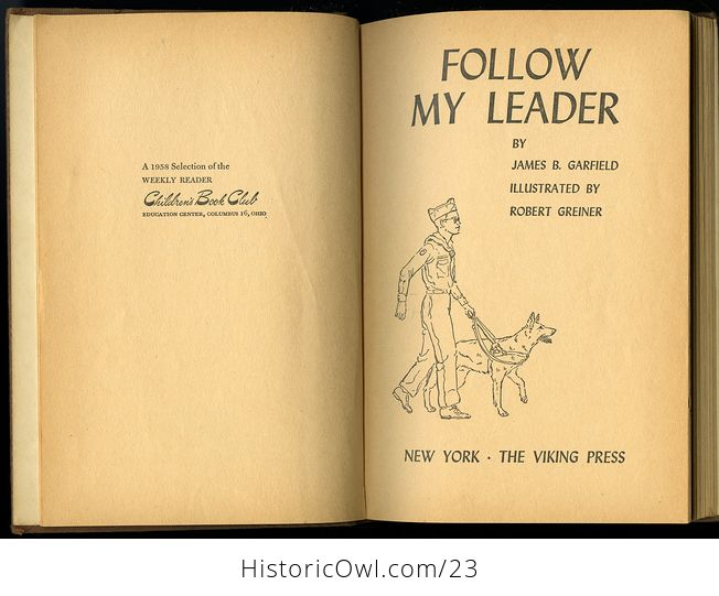 Vintage Illustrated Book 34follow My Leader34 Story About a Blind Boy and His Seeing Eye Dog C1958 - #9Di4qVOhCzc-2