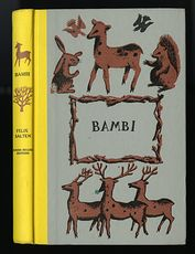 Vintage Illustrated Book Bambi by Felix Salten Junior Deluxe Editions C1956 #MvyS5SvtS9Q