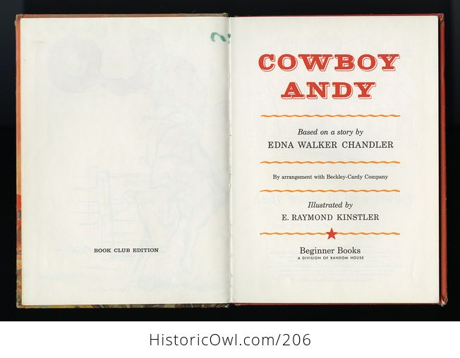 Vintage Illustrated Book Cowboy Andy Based on a Story by Edna Walker Chandler and Illustrated by E Raymond Kinstler C1959 - #iEoC3xMAQBM-4