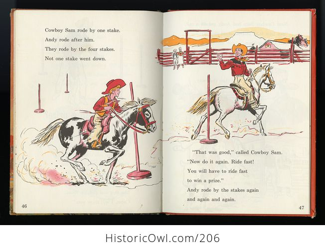 Vintage Illustrated Book Cowboy Andy Based on a Story by Edna Walker Chandler and Illustrated by E Raymond Kinstler C1959 - #iEoC3xMAQBM-6