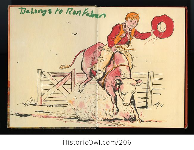 Vintage Illustrated Book Cowboy Andy Based on a Story by Edna Walker Chandler and Illustrated by E Raymond Kinstler C1959 - #iEoC3xMAQBM-3