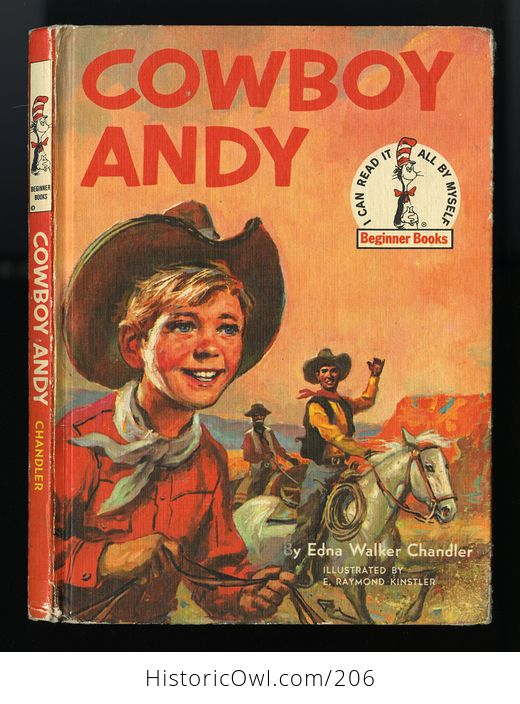 Vintage Illustrated Book Cowboy Andy Based on a Story by Edna Walker Chandler and Illustrated by E Raymond Kinstler C1959 - #iEoC3xMAQBM-1