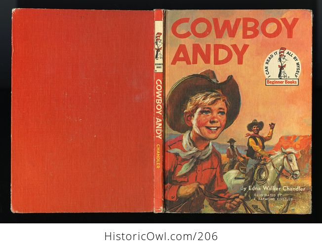 Vintage Illustrated Book Cowboy Andy Based on a Story by Edna Walker Chandler and Illustrated by E Raymond Kinstler C1959 - #iEoC3xMAQBM-2