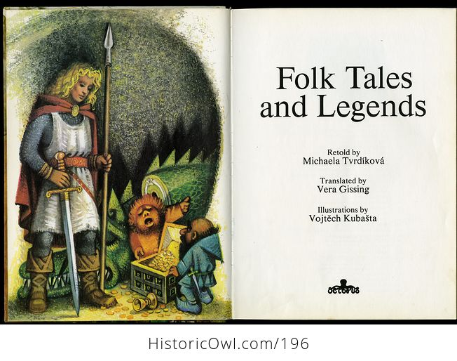 Vintage Illustrated Book Folk Tales and Legends Retold by Michaela Tvrdikova and Translated by Vera Gissing C1981 - #43fA1pXfSHY-4