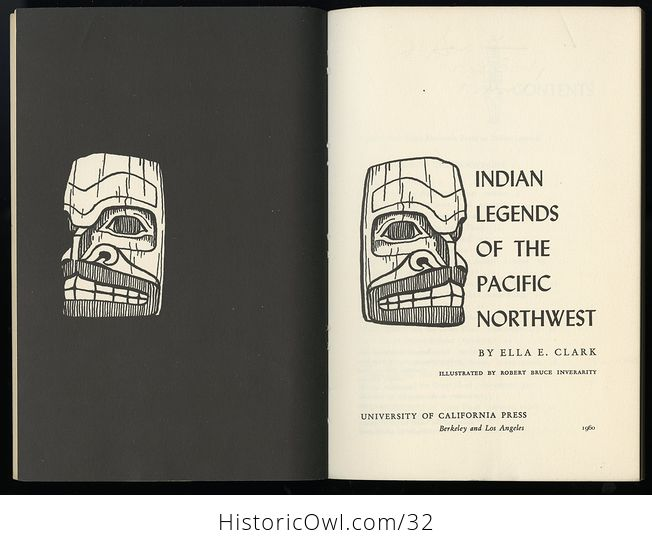 Vintage Illustrated Book Indian Legends of the Pacific Northwest by Ella E Clark C 1960 - #hYKWpO5yBb4-9