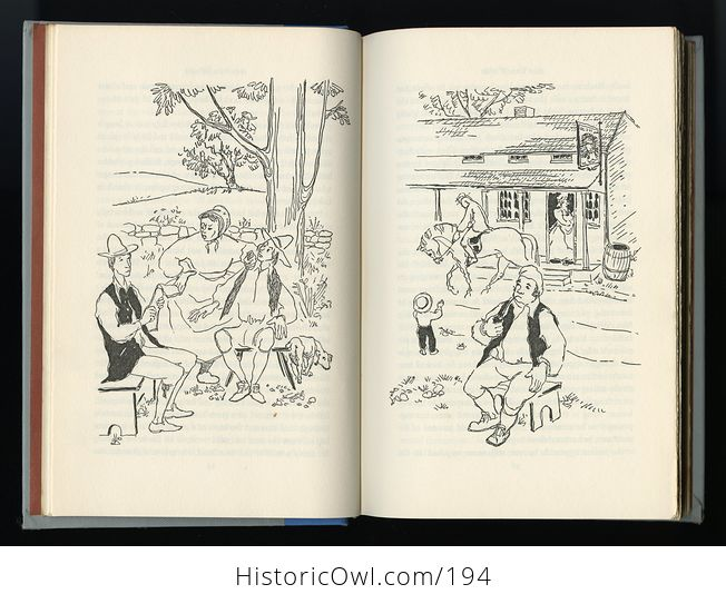 Vintage Illustrated Book Rip Van Winkle by Washington Irving Junior Deluxe Editions C1955 - #gAqwWTW5NAU-5