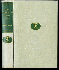 Vintage Illustrated Book the Metropolitan Opera Guide by the Modern Library C1939 #WcdbfLXHxeA