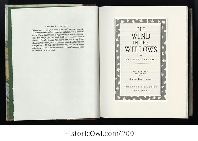Vintage Illustrated Book the Wind in the Willows by Kenneth Grahame C1987 - #PtLzGHEAMyM-4
