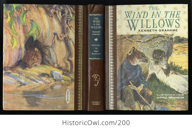 Vintage Illustrated Book the Wind in the Willows by Kenneth Grahame C1987 - #PtLzGHEAMyM-2