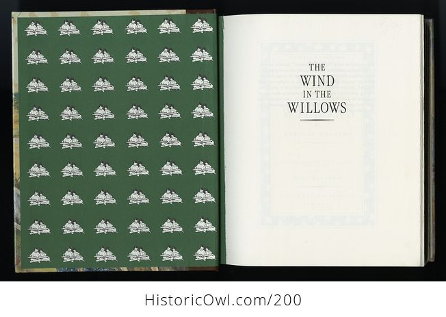 Vintage Illustrated Book the Wind in the Willows by Kenneth Grahame C1987 - #PtLzGHEAMyM-3