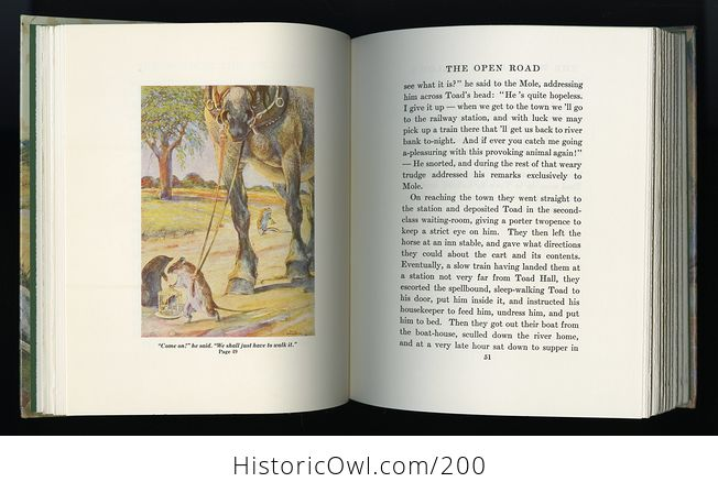 Vintage Illustrated Book the Wind in the Willows by Kenneth Grahame C1987 - #PtLzGHEAMyM-6