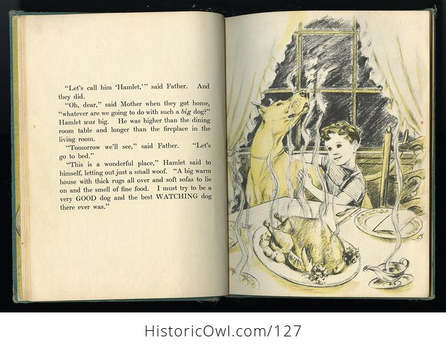 Vintage Illustrated Childrens Book Big Lonely Dog by Leonore Harris C1943 - #CetcS2t5JfI-5