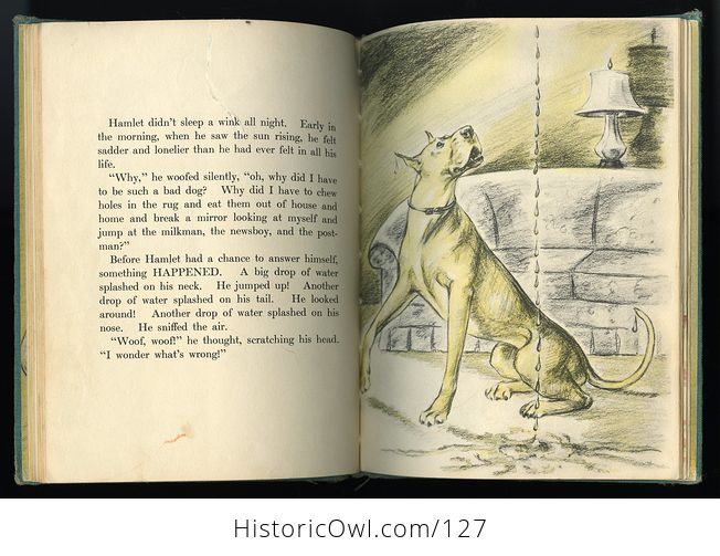 Vintage Illustrated Childrens Book Big Lonely Dog by Leonore Harris C1943 - #CetcS2t5JfI-4