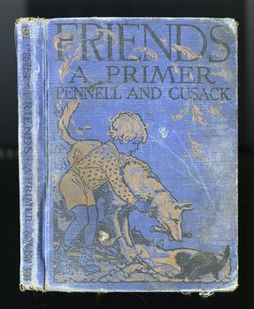 Vintage Illustrated Childrens Book Friends a Primer by Mary E Pennell and Alice M Cusack C1929 #ESiDWXrMFXg