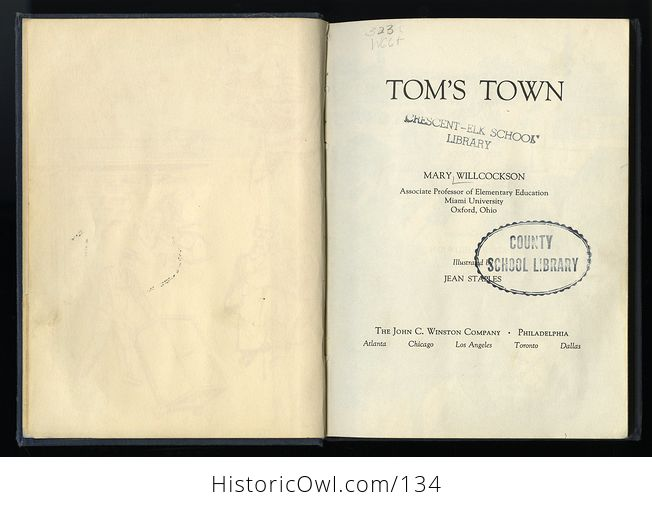 Vintage Illustrated Childrens Book Toms Town by Mary Wilcockson C1950 - #Lbfca50gQoA-3