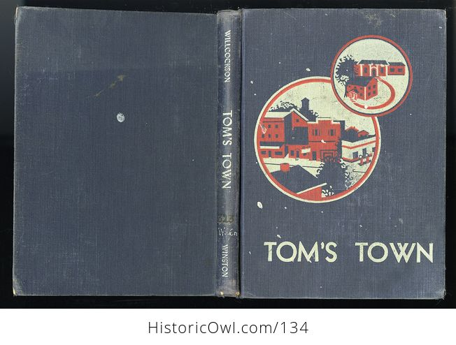 Vintage Illustrated Childrens Book Toms Town by Mary Wilcockson C1950 - #Lbfca50gQoA-7