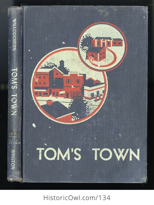 Vintage Illustrated Childrens Book Toms Town by Mary Wilcockson C1950 - #Lbfca50gQoA-1