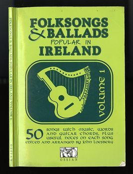 Vintage Illustrated Music Book Folksongs and Ballads Popular in Ireland by John Loesberg C1979 #snS2VKGfbTc