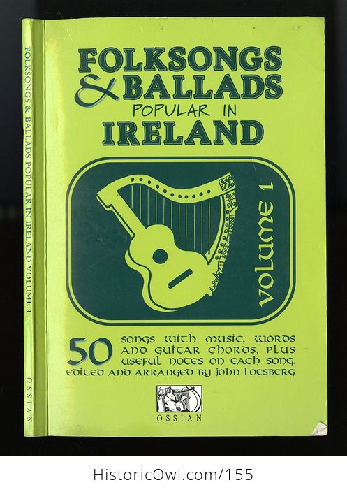 Vintage Illustrated Music Book Folksongs and Ballads Popular in Ireland by John Loesberg C1979 - #snS2VKGfbTc-1