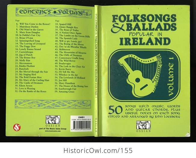 Vintage Illustrated Music Book Folksongs and Ballads Popular in Ireland by John Loesberg C1979 - #snS2VKGfbTc-2