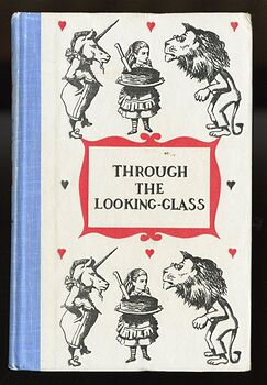 Vintage Through the Looking Glass and What Alice Found There Illustrated Book by Lewis Carroll Junior Deluxe Editions 1950s #4SrYwNGM1Fs