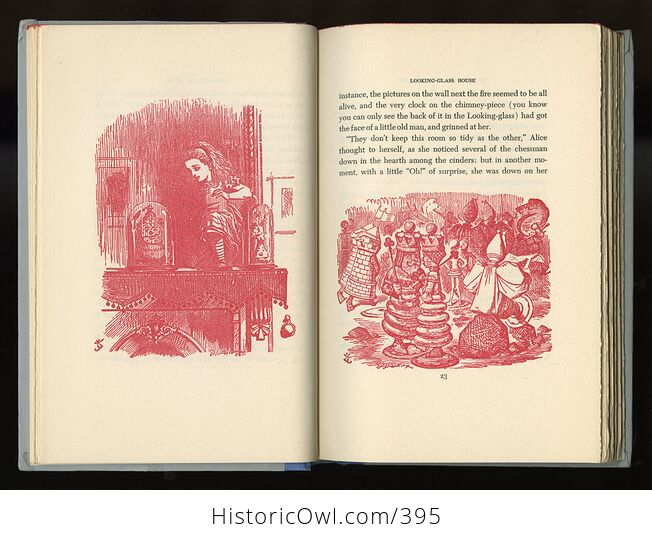 Vintage Through the Looking Glass and What Alice Found There Illustrated Book by Lewis Carroll Junior Deluxe Editions 1950s - #4SrYwNGM1Fs-6