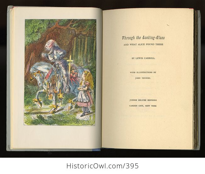 Vintage Through the Looking Glass and What Alice Found There Illustrated Book by Lewis Carroll Junior Deluxe Editions 1950s - #4SrYwNGM1Fs-4