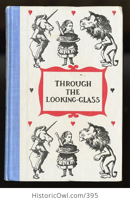 Vintage Through the Looking Glass and What Alice Found There Illustrated Book by Lewis Carroll Junior Deluxe Editions 1950s - #4SrYwNGM1Fs-1