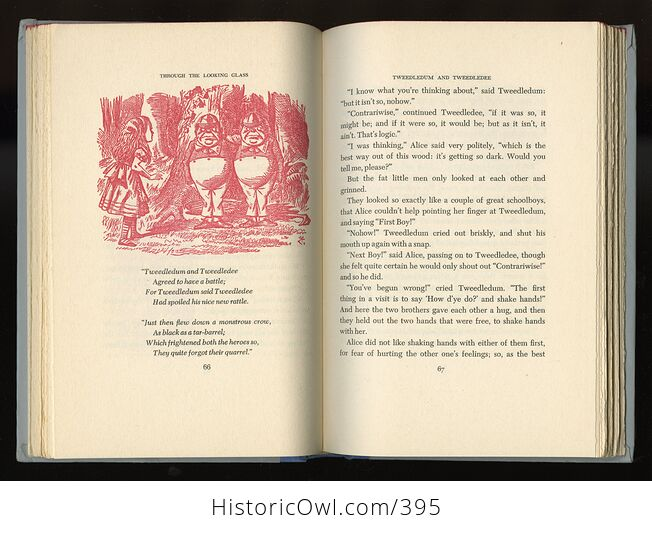 Vintage Through the Looking Glass and What Alice Found There Illustrated Book by Lewis Carroll Junior Deluxe Editions 1950s - #4SrYwNGM1Fs-8