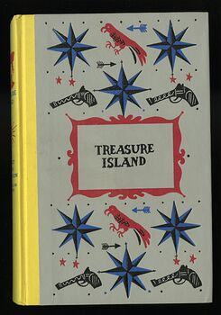 Vintage Treasure Island Illustrated Book by Robert Lewis Stevenson Junior Deluxe Editions C1954 #xzObJ0oNijw