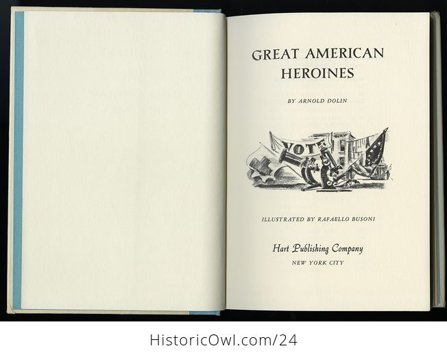 Vintage Women in Us History Book Great American Heroines by Arnold Dolin C1960 - #ZOlHQkssWUI-10