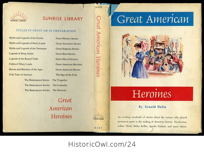Vintage Women in Us History Book Great American Heroines by Arnold Dolin C1960 - #ZOlHQkssWUI-1