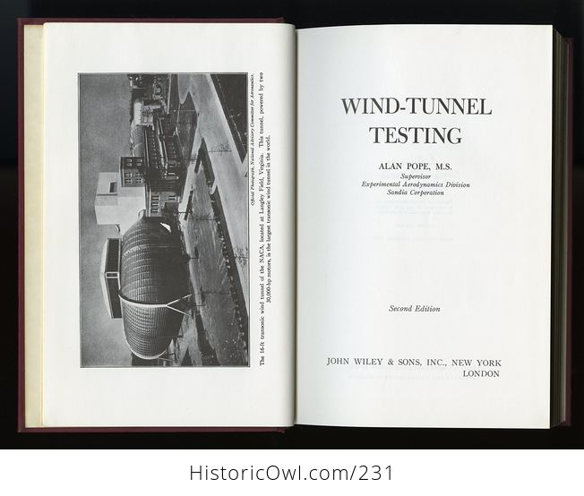 Wind Tunnel Testing Book by Alan Pope C1954 - #EwymYwszjXQ-3